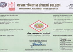 TSE-ISO-EN 14001 CERTIFICATE