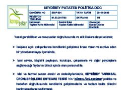 Seydibey - Potato Policy