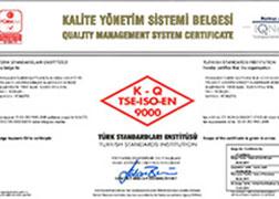 Panagro ISO 9000 Kalite Yönetim Sistemi