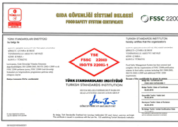 Çumra Şeker TSE - FSSC 22000 Food Safety Management System Certificate