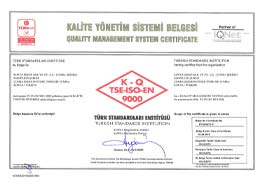 Çumra Şeker Sugary Products TSE - ISO - 9000