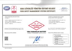 FSSC 22000 BELGESİ