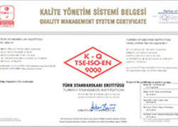 TSE - ISO - 9001 - Quality Management System Certificate