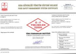 Konya TS EN ISO 22000 Sertifikası 2013 - 2016