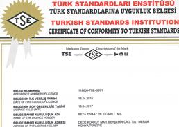 TS - 316 - Ham Ayçiçek Tohumu Küspesi Ürün Uygunluk Belgesi 2016
