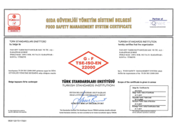 ISO 22000 – Food Safety Management System Certificate