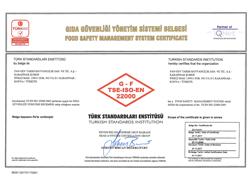 شهادة نظام إدارة سلامة الجودة – ISO 22000