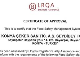 Seydibey - ISO - 22000 - Certificate - 2014 - 2016