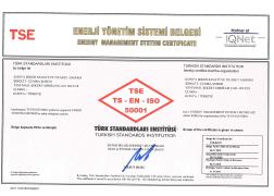 Çumra Şeker TSE - EN ISO 50001 Enerji Yönetim Sistemi Belgesi