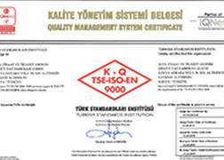 ISO - 9001 - Quality Management System Certificate