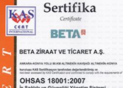 Yağ Fabrikası OHSAS 18001:2007 İş Sağlığı ve Güvenliği Yönetim Sistemi Belgesi