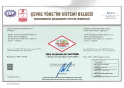TSE-ISO-EN 14000 CERTIFICATE