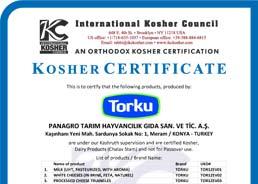 Panagro Kosher Sertifikası