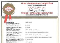 Tse Halal Certificate