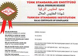 Helvahane Sesame Halal Certificate