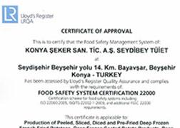 Seydibey - FSSC 22000 Certificate