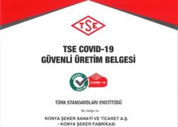 شهادة إنتاج كوفيد – 19 أمن وفقا لمؤسسة المعايير التركية