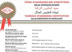 شهادة مطابقة المواد الغذائية الحلال - شركة كونيا للسكر - كريم البندق