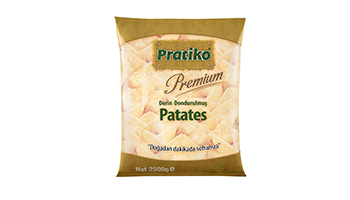 Torku Pratiko Premium Elma Dilim Patates (5x2500 gr)