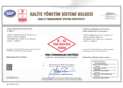 TSE-ISO-EN 9000 CERTIFICATE