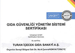 شهادة  نظام إدارة سلامة الغذاء آيزو 22000
