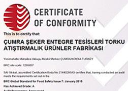 BRC Food V7 Certificate