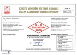 Çumra Şeker TSE ISO 9000 Kalite Yönetim Sistem Belgesi