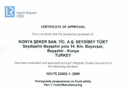 Seydibey - TUIET ISOTS 22002 Certificate 2016