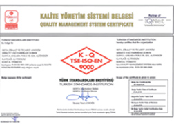 Vegetable Oil Factory TSE - ISO - 9001:2008 - Quality Management System Certificate