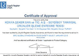 سيديبي - شهادة BRC Food V7 2017