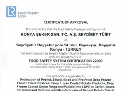 Seydibey - TUIET FSSC Certificate 2016