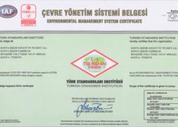 TSE-ISO-EN 14001 BELGESİ