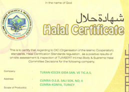 Turan Halal Certificate for Beverages