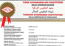 Helvahane Halvah - Turkish Delight Halal Certificate