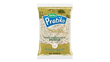 Torku Pratiko Premium Tırtıklı Klasik Kesim Patates 9x9 (5x2500 gr)