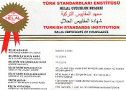 Helvahane Tahini Halal Certificate