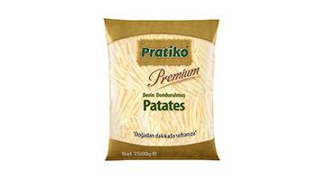 Torku Pratiko Premium Tırtıklı Kesim Patates 9x9 (5x2500 gr)
